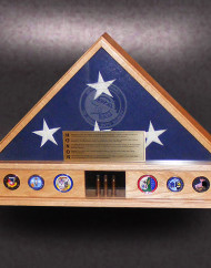 5×9-red-oak-Display-Base-Flag-Case-with-embedded-coins-and-etched-glass