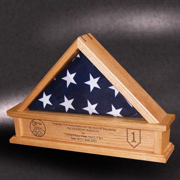 red oak flag case for 3x5 flag