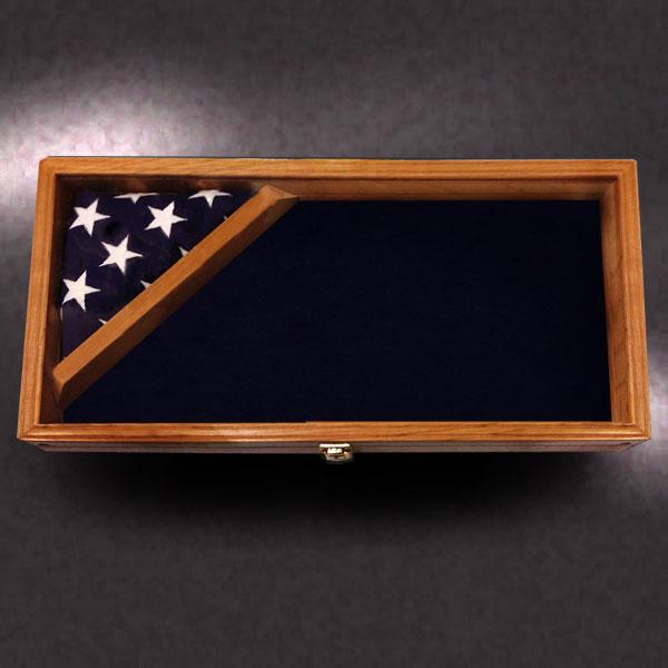 12x24 Shadow Box with 3x5 Corner Flag by Greg Seitz Woodworking