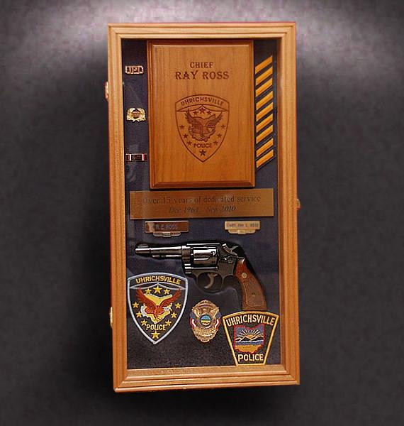 Police retirement Shadow Box