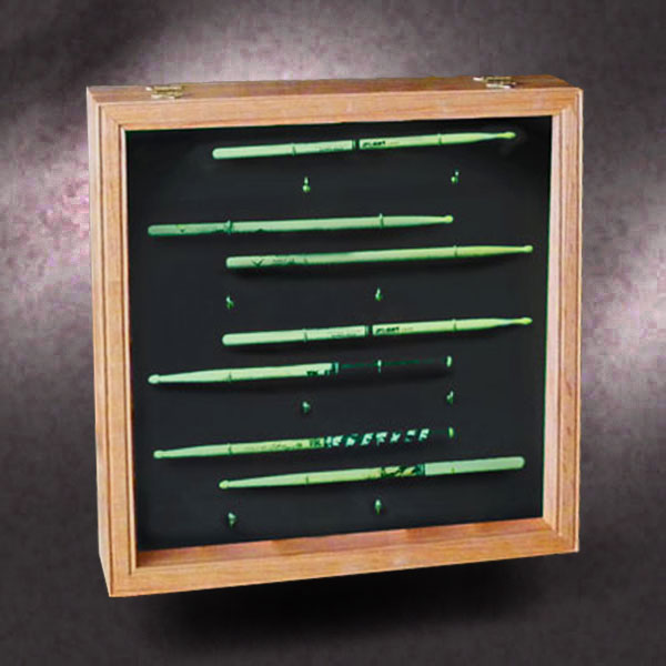 18x18x3 red oak shadow box with drum stick collection greg seitz woodworking. Black Bedroom Furniture Sets. Home Design Ideas