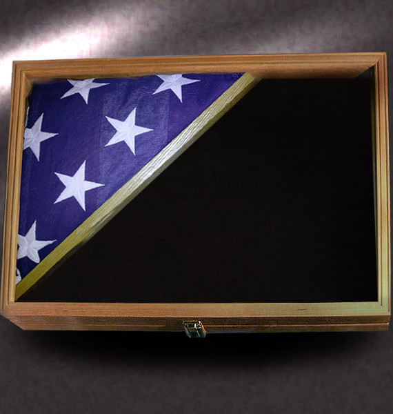 18x24 Shadow Box for Memorial Flag by Greg Seitz Woodworking