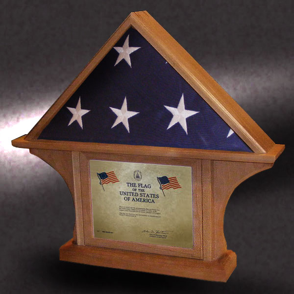 5x8 certificate flag case by greg seitz woodworking