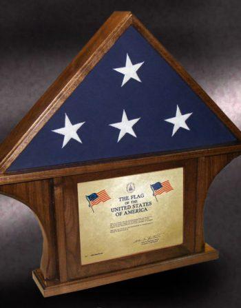 walnut certificate flag case