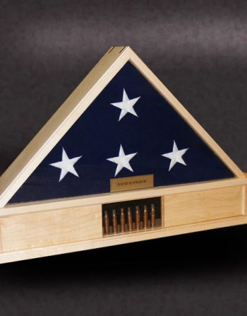 5x9 flag box with shell casings