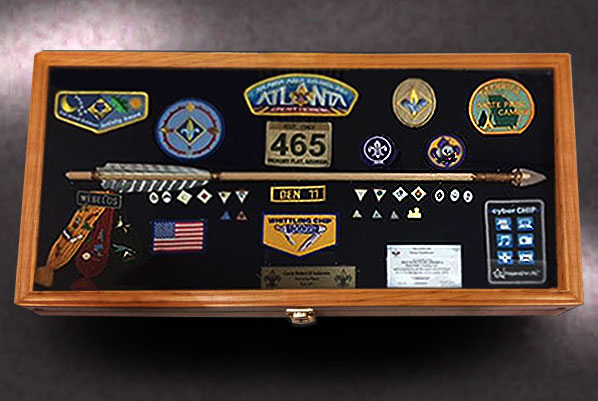 12x24 Webelos Shadow Box & Shadow Boxes for Military Retirements Made in the U.S.A. Aboutintivar.Com