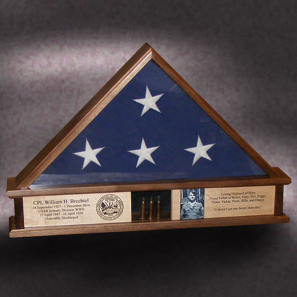 how to build a 3x5 flag display case