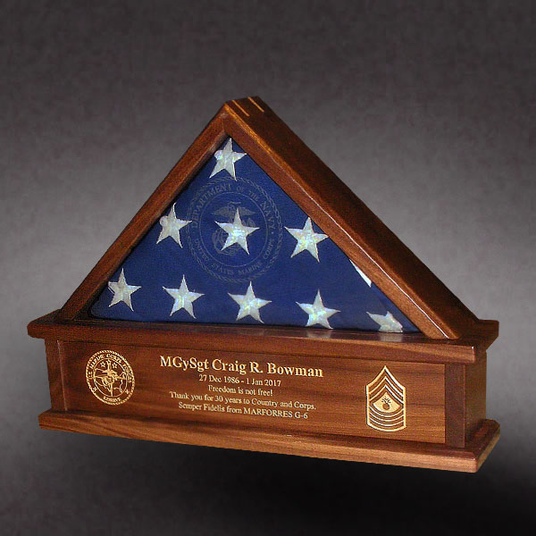3x5 Flag Box for Marine Reserves Retirement