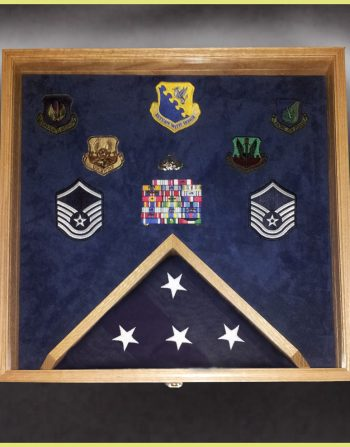 Military Retirements and Memorabilia Shadow Box