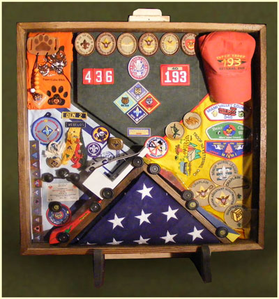 Cub Scout and Eagle Scout Shadow Boxes
