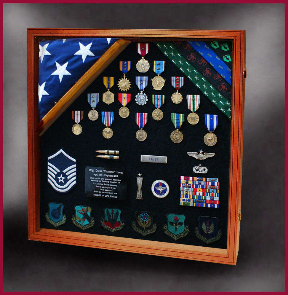 military shadow boxes for retirements