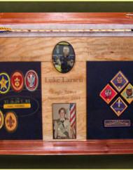Eagle Scouts , Boy Scouts and Girl Scouts Shadow Box and Display Cases