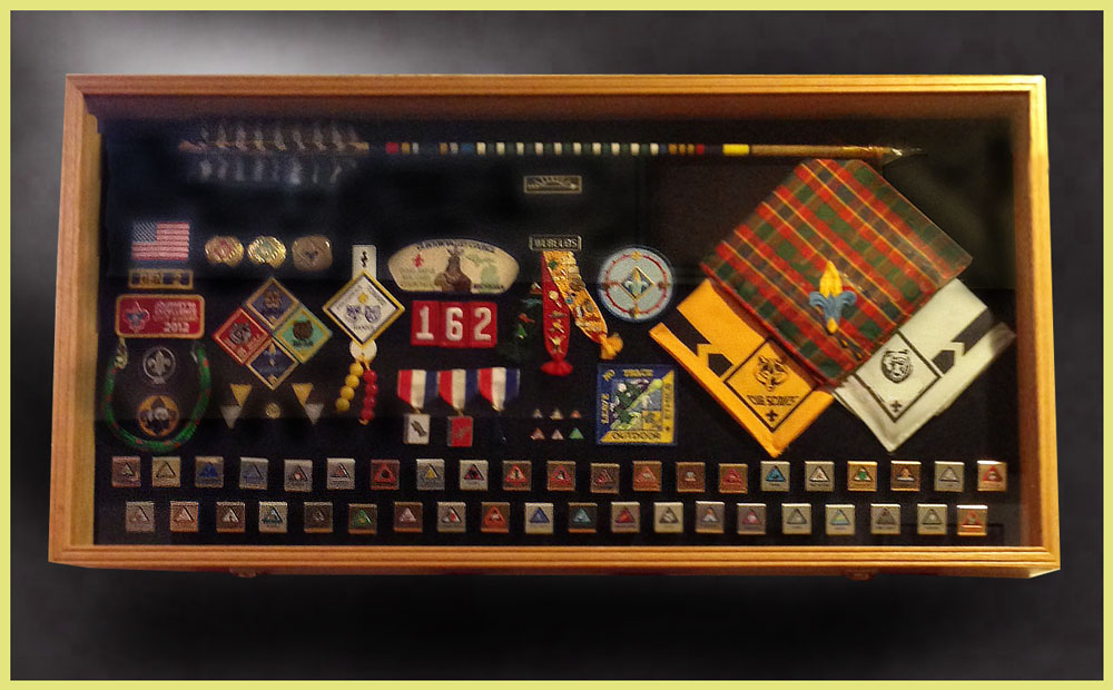 Eagle Scouts Boy And Shadow Box Display Cases