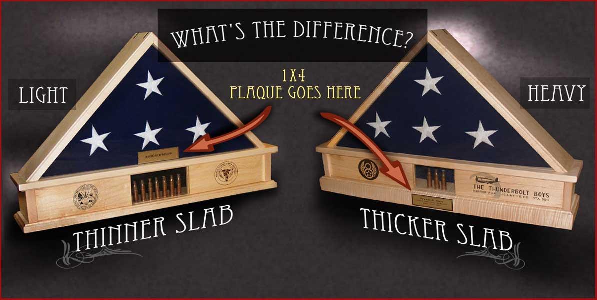 wood flag box options