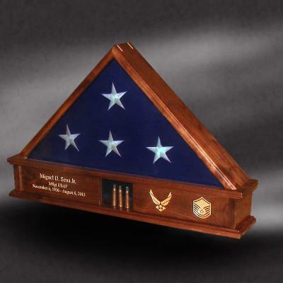 walnut memorial flag box