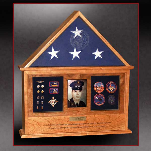 doghouse flag box shadow box combination