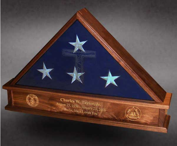 Laser Engraving For Flag Cases And Shadow Boxes By Greg