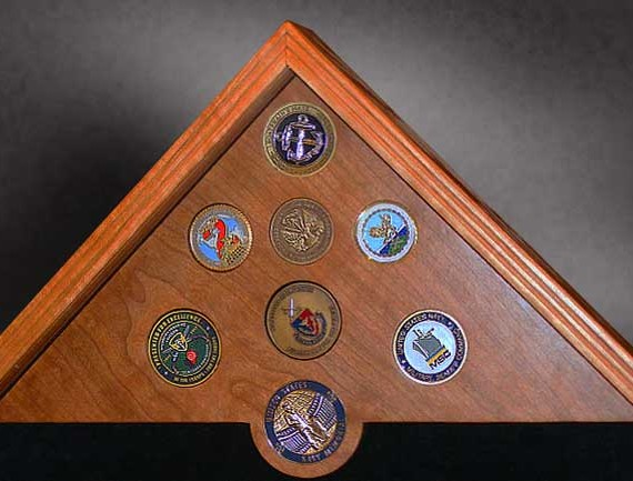 mounted challenge coins