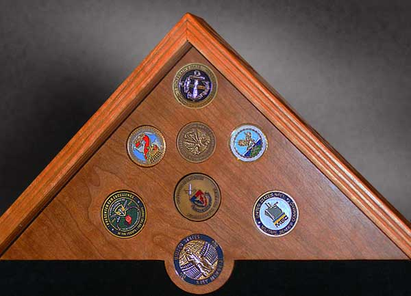 Mounted Challenge Coins by Greg Seitz Woodworking