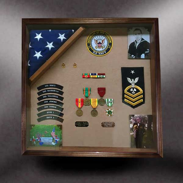 Navy Veterans Wood Shadow Boxes