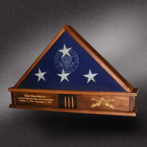 Memorial Shadow Box for Cavalry msdr from walnut