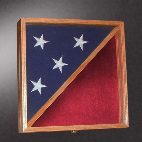 18x18 Shadow Box With 5x9 Flag Frame
