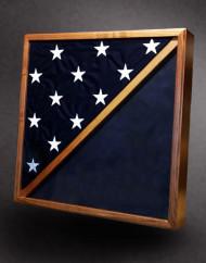 walnut shadow box wirth flag
