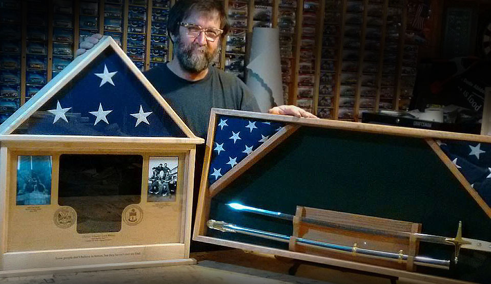 Custom Memorial Flag Cases and Shadow Boxes