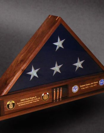Walnut Memorial Flag Case