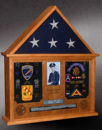 Memorial Shadow Box and Flag