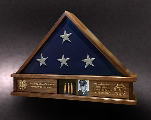 Army Veteran Memorial Flag Case