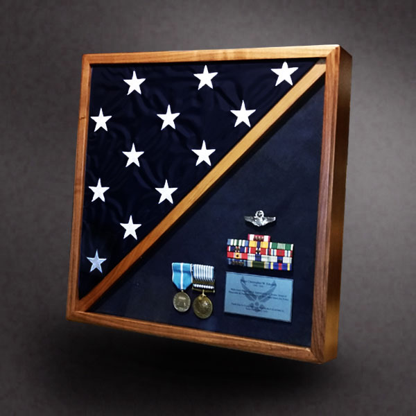 18x18 Shadow Box With 5x9 Flag Frame