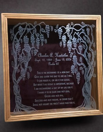 Memorial Shadow Box for Bible