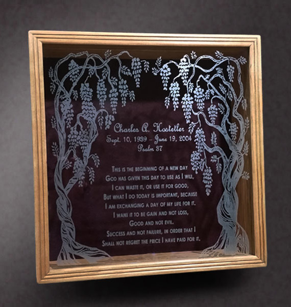 Memorial Shadow Box for Bible