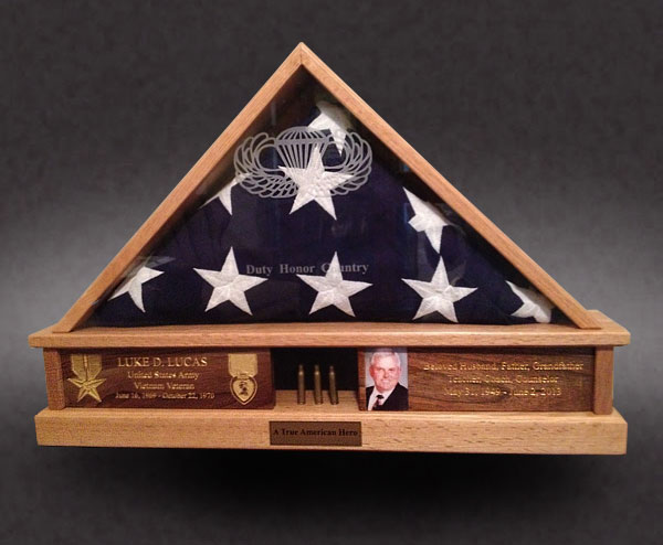 Military Burial Flag Case